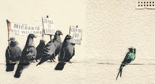 A Clacton-on-Sea cancellano un graffito di Banksy ed eleggono il primo MP di Ukip