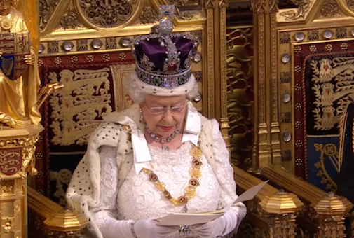 """Queen's Speech"", la Regina illustra il programma del nuovo Governo"