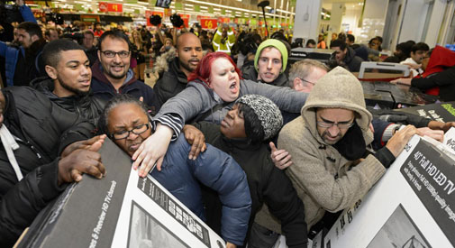 Black Friday, il giorno da 1 miliardo di sterline e 400 incidenti