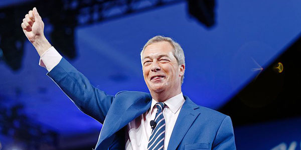 Europee, il Brexit Party di Farage prende il sopravvento